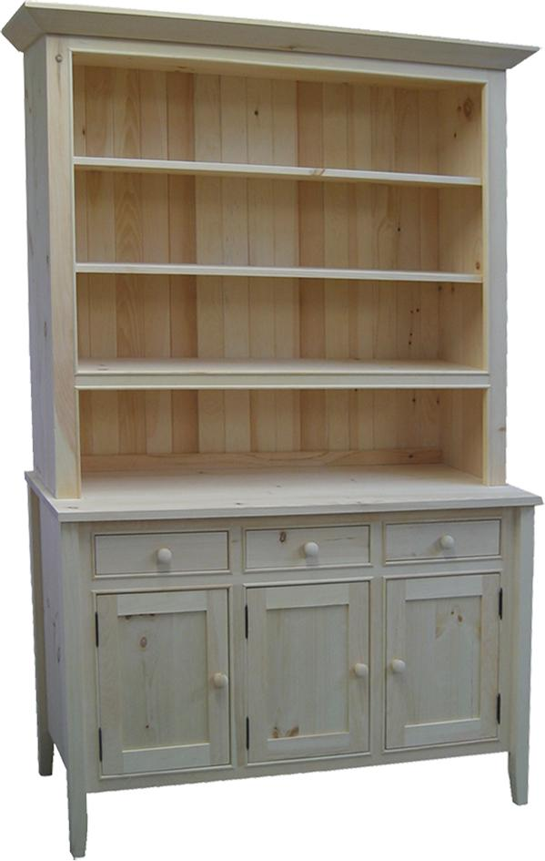 3 Drawer 3 Door Buffet with open hutch