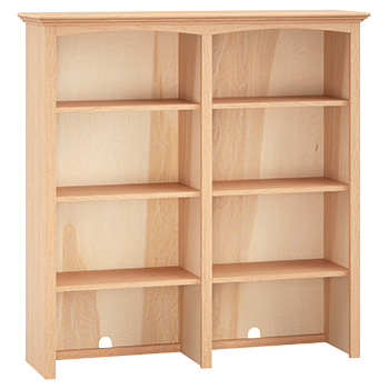 Solid sturdy adjustable shelves, cord access holes