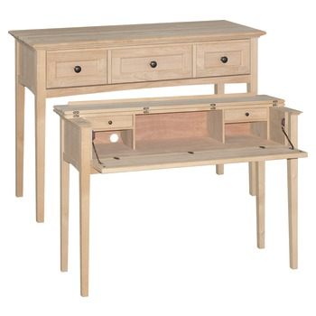 Beautiful sofa table with cleverly hidden desk, perfect for small homes! 50W x 23.5D x 37H