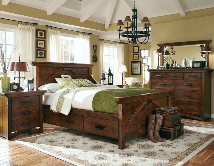Storage and footboard options, wood and finish options