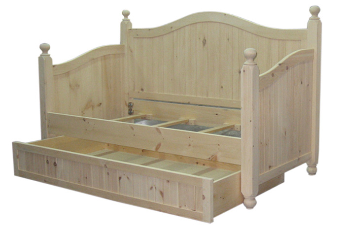 shown with optional trundle , wood and finish options. See other style options