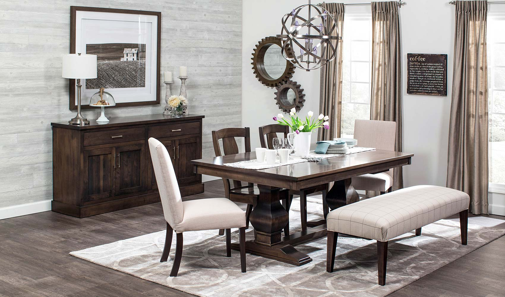 We carry tables, chairs, sideboards and more for your Dining Room needs.
