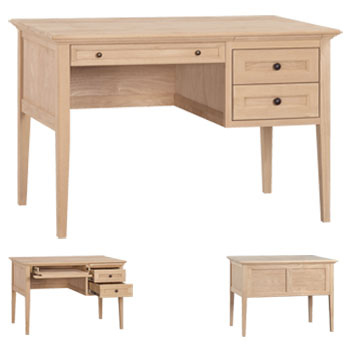Comes with optional center drawer and 2 spacious drawers. Custom sizes, configurations, wood and finishes available