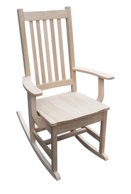 also available with upholstered seat in oak or maple